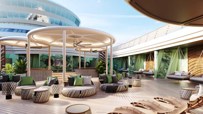 For the first time aboard a Disney ship, Senses Spa will feature a dedicated outdoor relaxation space where guests can unwind in whirlpool spas, rest on plush loungers and find their center during yoga sessions. This open-air oasis is a brand-new extension to Disney Cruise Line's signature Rainforest experience, which has been reimagined for the Disney Wish to provide even more ways to relax and rejuvenate. (Disney)
