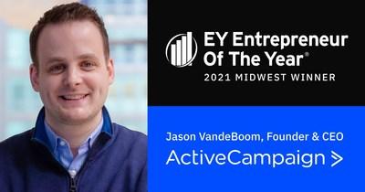 ActiveCampaign CEO Jason VandeBoom was named EY Entrepreneur of the Year.