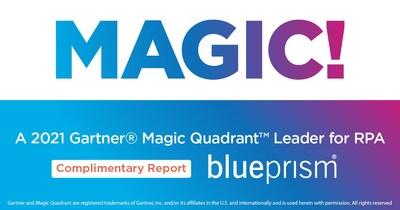 MAGIC! A 2021 Gartner Magic Quadrant Leader for RPA
