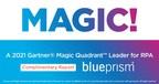 Blue Prism Recognized as Leader in the 2021 Gartner® Magic...