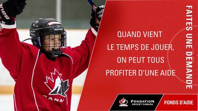 Quand vient le temps de jouer on peut tous profiter d'une aide (Groupe CNW/Fondation Hockey Canada)