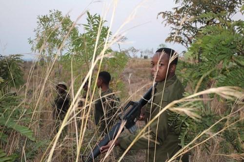 Meet Margaret Darawanda, a Dedicated Akashinga Ranger on World Ranger Day: Akashinga ranger Margaret Darawanda (right) on patrol in Phundundu Wildlife Area, Zimbabwe.