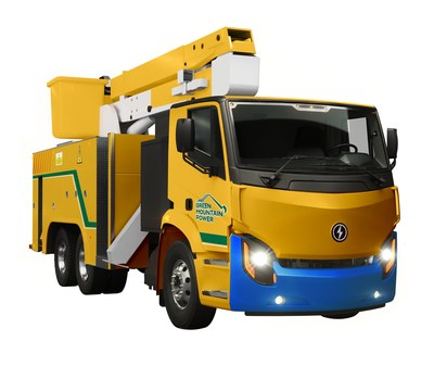 Lion8 Bucket Truck Green Mountain Power (CNW Group/Lion Electric)