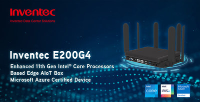 Inventec introduces AIoT E200G4, the Microsoft Azure certified device.
