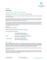 LUCARA SHARE CAPITAL AND VOTING RIGHTS UPDATE (CNW Group/Lucara Diamond Corp.)