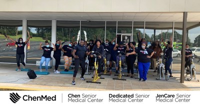 ChenMed employees enjoy a recent fitness break during the company's Wellness Month.
