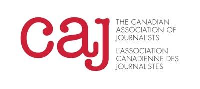 Logo : CAJ (Groupe CNW/Canadian Association of Journalists)