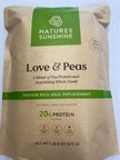 """Nature's Sunshine Issues Allergy Alert On Undeclared Milk In Its """"Love & Peas"""" Meal Replacement Shake"""
