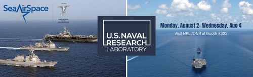 NRL scientists and engineers will be available Aug. 2-4 to discuss their cutting-edge research and advances in technology during the Navy League's Global Maritime Exposition Sea-Air-Space in exhibit booth #302. (PRNewsfoto/U.S. Naval Research Laboratory)