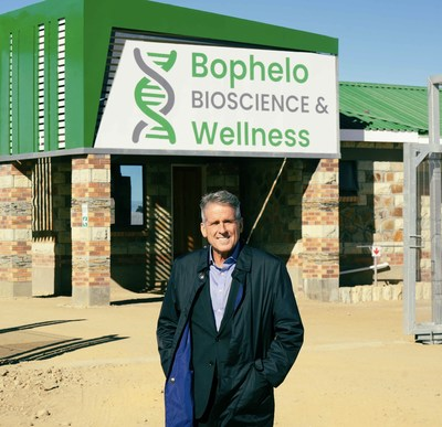 Boustead's Head of Equity Capital Markets, Dan McClory, pictured during his visit to Bophelo Bioscience & Wellness in Lesotho, Africa. (CNW Group/Halo Collective Inc.)