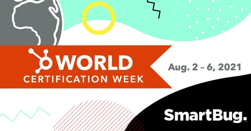 SmartBug Media's® World Certification Day will take place on August 4, 2021, during HubSpot's World Certification Week, which was inspired by SmartBug's quarterly Certification Days and runs August 2-6, 2021. During the week, businesses around the world are encouraged to provide ongoing education opportunities to employees during regular working hours—a concept that was conceived four years ago by SmartBug CEO Ryan Malone.