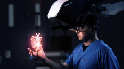 HOLOSCOPEtm-i: Over-the-head Holographic system by RealView Imaging, Creating Digital 3D Holograms in the Physician's Hand (PRNewsfoto/RealView Imaging Ltd)