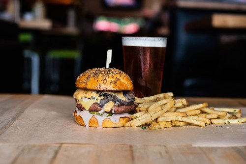Hopdoddy's August Burger of the Month is the Beyond a Reuben, featuring the new, even juicier Beyond Burger®.