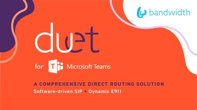 Bandwidth's Duet for Microsoft Teams won the global top award for innovation in a category that was hotly contested by the leaders in the Unified Communications space.