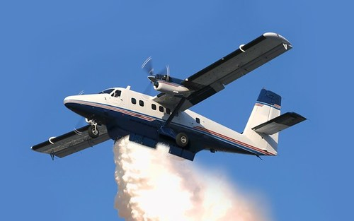 The photo is a mock-up of the DHC-6 Twin Otter Firefighter aircraft featuring the air tanker configuration. (CNW Group/PAL Aerospace Ltd.)