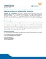 News Release August 2021 Dividend final (CNW Group/Keyera Corp.)