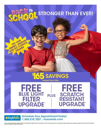 Disney, Marvel and DC Comics Frames and Back to School Specials at My Eyelab