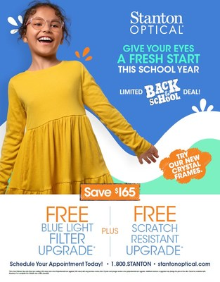 Back to School Promotions at Stanton Optical