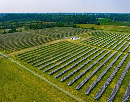 This Nexamp solar farm in Gloversville is one of 23 community solar projects in New York that will provide clean energy credits to Walmart and savings opportunities to area residents.