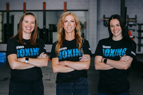 Legends Boxing leadership team (from left to right): Teri Harman, Mary Bevins, and Annie Davis