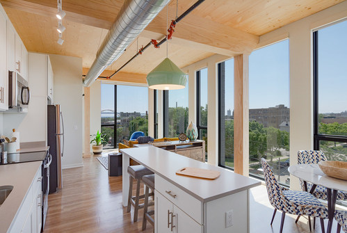 2021 WoodWorks Wood Design Award Winner, Timber Lofts, Milwaukee, WI, Photos: ADX Creative and Engberg Anderson Architects