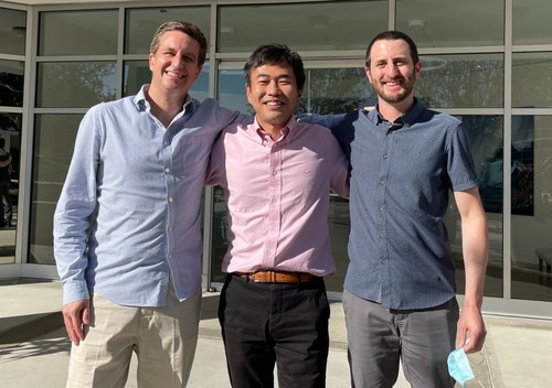 (From left to right: Eboost CEO Evan LaGasse, middle: Principle CEO Ken Kusuyama, right: Eboost COO Chris Root)