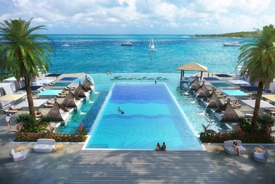 Dos Awa, Sandals Resorts' only infinity pool with expansive upper and lower decks perfect for marveling at the awe-inspiring views.