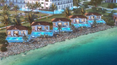 Awa Seaside Butler Bungalows, each featuring a private pool that overlooks the Spanish Water.