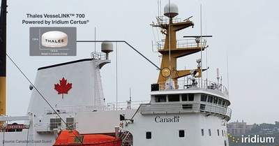 The Canadian Coast Guard has deployed weather-resilient Iridium Certus technology, featuring the Thales VesseLINK 700, on its vessels, including icebreakers.