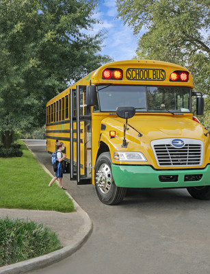 Levo will initially focus on electrifying school buses, providing associated charging infrastructure, and delivering V2G services to enable safer and healthier transportation for children. (Photo courtesy of Blue Bird Corporation)