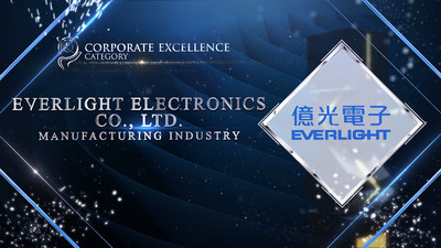 EVERLIGHT Electronics Co., Ltd was honoured for Corporate Excellence Award at the Asia Pacific Enterprise Awards 2021 Regional Edition