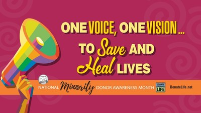 August is National Minority Donor Awareness Month, a collaborative initiative of the National Organ, Eye and Tissue Donation Multicultural Action Group with the goal of helping address disparities in access to transplant, and to save and improve the quality of life of diverse communities by creating a positive culture for organ, eye and tissue donation.