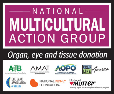 National Multicultural Action Group partners include the American Association of Tissue Banks (AATB), Association for Multicultural Affairs in Transplantation (AMAT), Association of Organ Procurement Organizations (AOPO), Donate Life America (DLA), Eye Bank Association of America (EBAA), Health Resources and Services Administration (HRSA), National Minority Organ Tissue Transplant Education Program (MOTTEP) and National Kidney Foundation (NKF).
