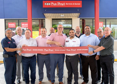 Pep Boys Team Members recently celebrated the opening of a new Pep Boys Service and Tire Center at the U.S. military installation at Fort Buchanan – a first-ever opening of its kind for the service chain – to provide a comprehensive range of automotive maintenance and repair services exclusively to those stationed at the base.