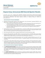 Keyera Corp. Announces 2021 Second Quarter Results (CNW Group/Keyera Corp.)