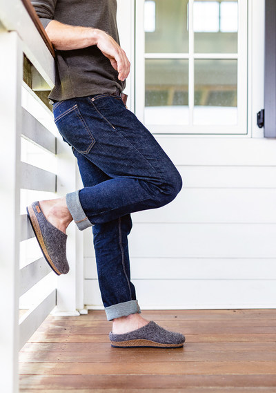 The second EcoWool Clog available in the J.Crew collection is Stonesheep a multi-tonal grey, made with wool from Tyrolean Stone Sheep of Austria.