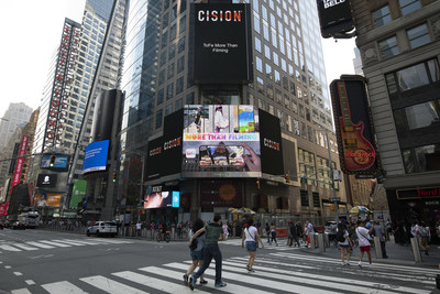 Video Effect App ToFe Debuts on the big screen in New York Times Square