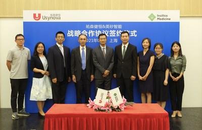 Insilico Medicine and Usynova Announce Strategic Partnership