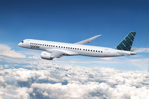 Porter Airlines signs aircraft support agreement with Embraer ahead of North American growth plans (CNW Group/Porter Airlines)
