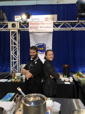 Chef Denise Herrera and Sous Chef Eric LeBlanc of Red Heat Tavern Compete in New Orleans' 2021 Great American Seafood Cook-Off
