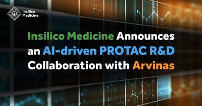 Insilico Medicine Announces an AI-driven PROTAC R&D Collaboration with Arvinas