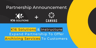 K16 Solutions & Instructure Extend Partnership to Offer Archiving Services to Customers