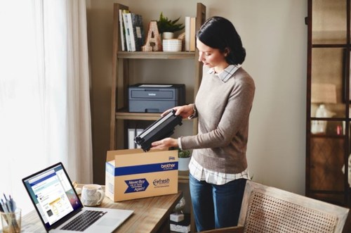 Brother introduces flexible, low cost monthly plans delivering Brother Genuine ink or toner cartridges directly to your door, before the printer ever runs out.