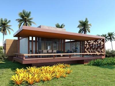 Casa 4 suítes, com piscina privativa.