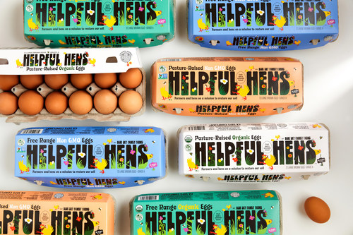 Egg Innovations' Blue Sky Family Farms Introduces Helpful Hens Product Line -- Eggs That Are Better For The Planet