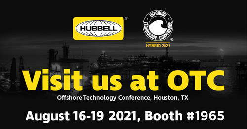 Hubbell Incorporated's  Harsh & Hazardous Group is showcasing its comprehensive suite of products and systems for severe environments at the Offshore Technology Conference 2021(OTC), August 16-19 at NRG Park in Houston.