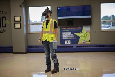 Virtual reality technology simulates underground utility locating.