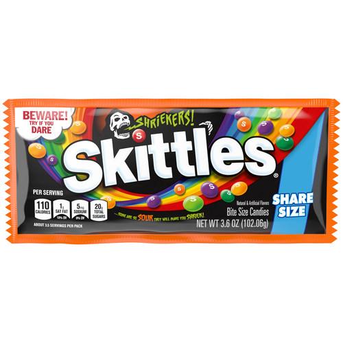 New SKITTLES Shriekers bring an unpredictable spooky sour punch sure to make fans shriek!