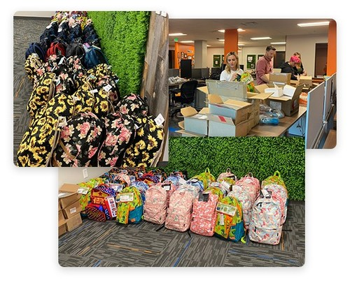 Madwire® Team Donates 144 Filled Backpacks to Children in the the Larimer County & Weld County Children's Services System