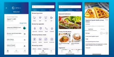 The OPTAVIA app, a new digital tool for Clients that includes Lean & Green recipes and access to order history, auto-ship details, account information and more.